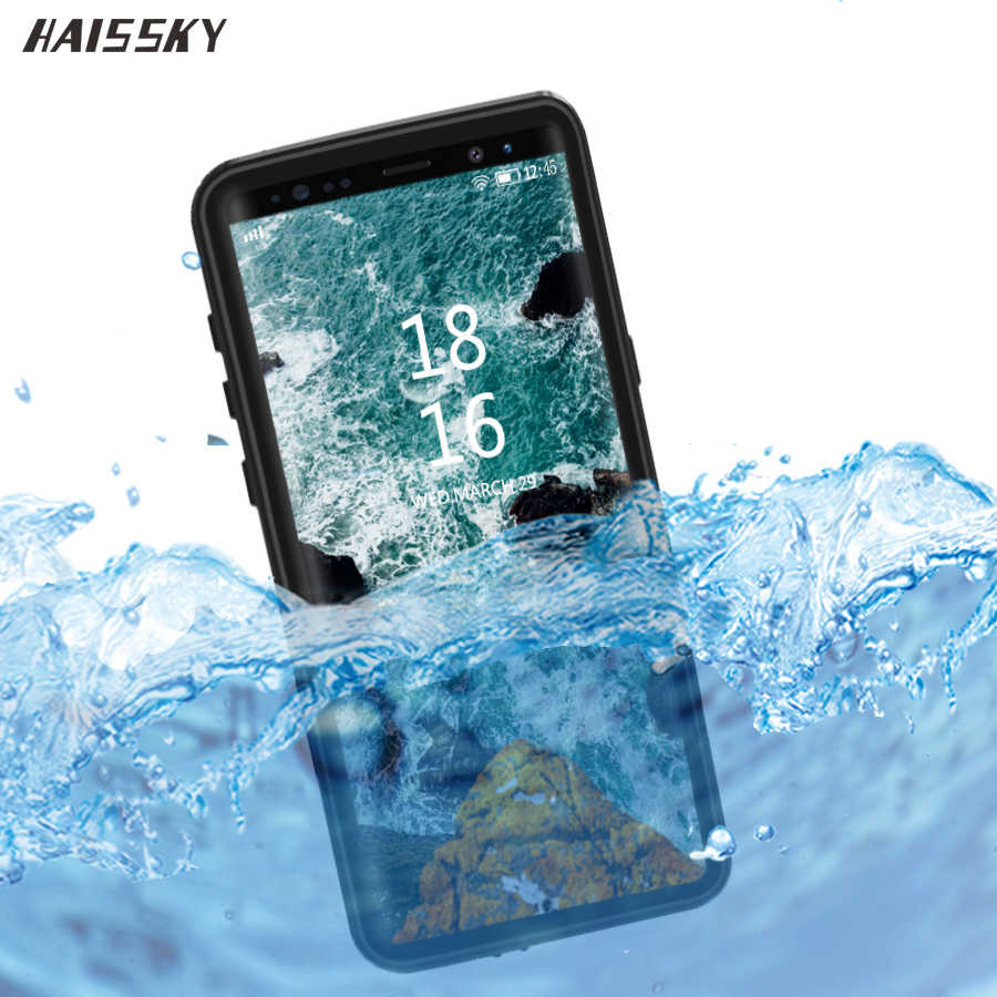 IP68 Tahan Air Ponsel Case untuk Samsung Galaxy S20 Ultra S10 Plus S10E S9 A51 Note 8 9 10 Nyata tahan Air Case Penutup
