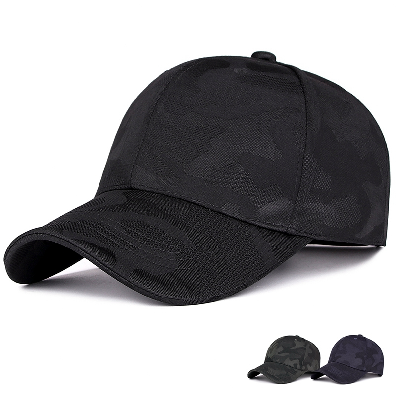 Spring and autumn new camouflage   baseball     cap   outdoor leisure simple visor male and female golf hat