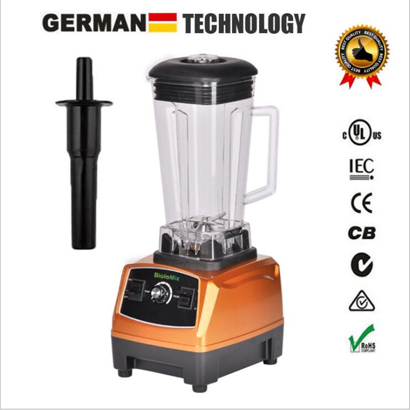 3HP 2200W BPA Free 2L Heavy Duty Commercial Grade Power Blender Mixer Juicer High Power Kitchen Processor for Ice Smoothie Fruit 767s heavy duty commercial blender mixer smoothie maker machine 2200w 2l 220v 110v various speed versatile