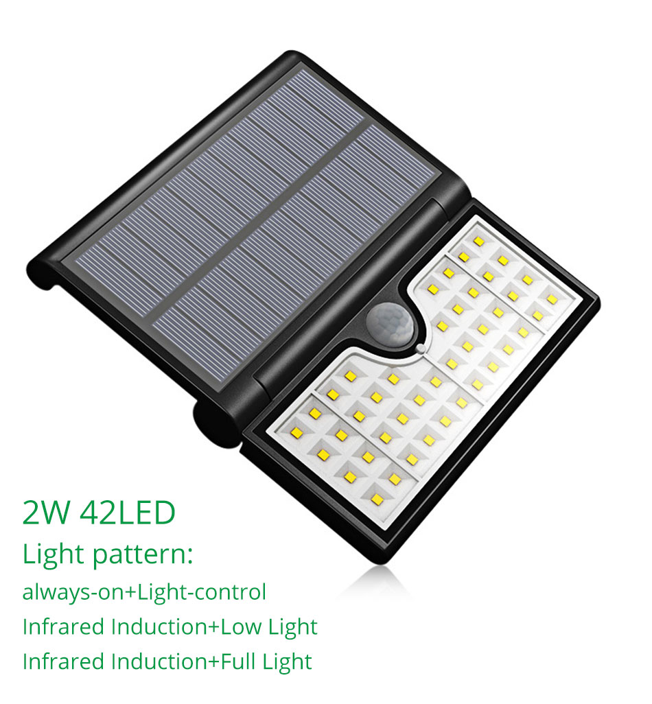 IP65 Outdoor Solar Led Lighting Home Garden Street Courtyard Solar Wall Lights Motion Sensor Lamp Modern Lithium Battery (5)