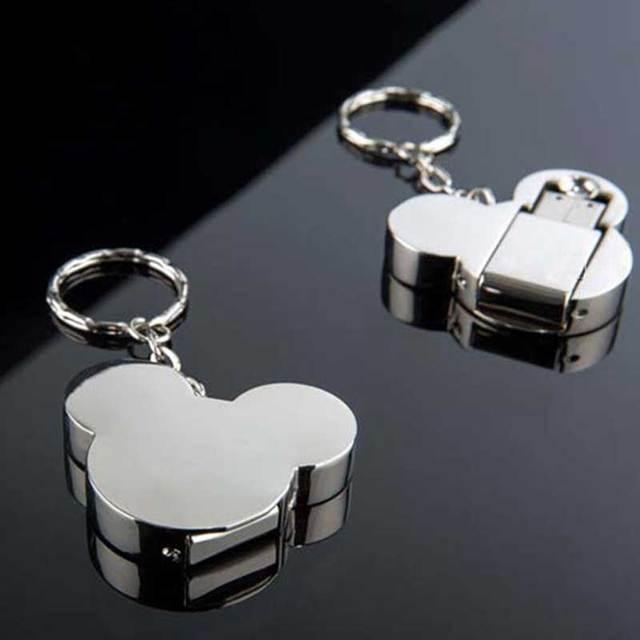 Creative Mickey Mouse head USB flash drive 16G 32G 64G 8G pen drive metal cartoon memory stick U disk