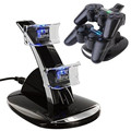 Top Selling Best Sale Black LED Light Quick Dual USB Charging Dock Stand Charger For PlayStation 3 For PS3 Controller Console