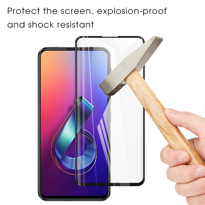Full Cover Tempered Glass For <font><b>ASUS</b></font> <font><b>Zenfone</b></font> <font><b>6</b></font> <font><b>ZS630KL</b></font> 6Z <font><b>6</b></font> <font><b>2019</b></font> Screen Protector HD Film 9H Scratch Proof Protective Glass image