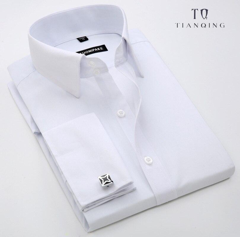 TIAN QIONG 2018 New Men Shirts Brand Turn-down Collar Slim Fit Mens  Casual  Business Shirt Long Sleeve Shirt M-5XL