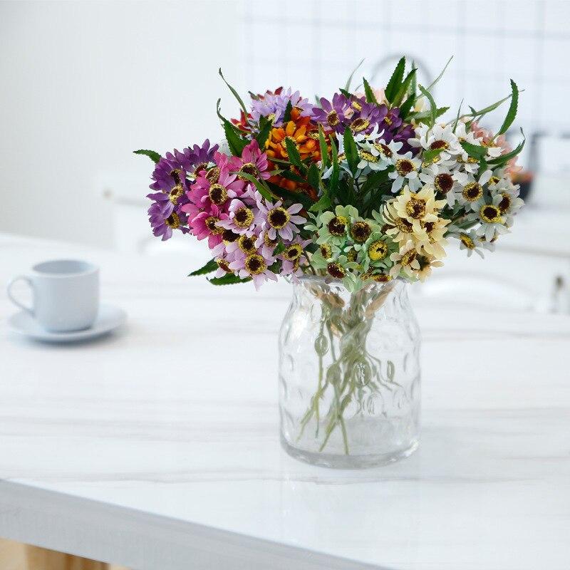 Klonca New Natural Silk Flower 35cm 3pcs/lot Fake Sunflower Artificial Home Party Decoration