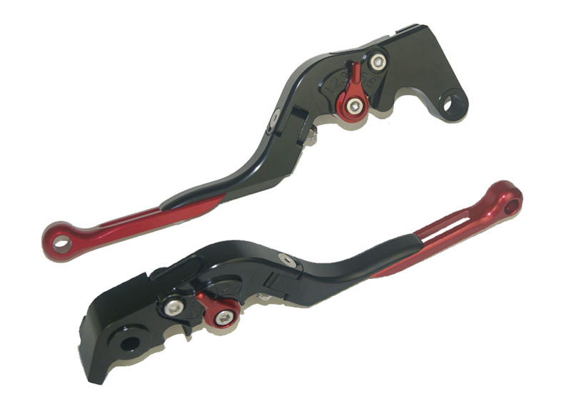 Motorcycle Brake Clutch Levers Adjustable Folding Extendable Red+Black For BMW F800S F800ST F800GS F800R F650GS adjustable billet short folding brake clutch levers for bmw f 650 700 800 gs f650gs f700gs f850gs 08 15 09 10 f 800 r s st 06 15