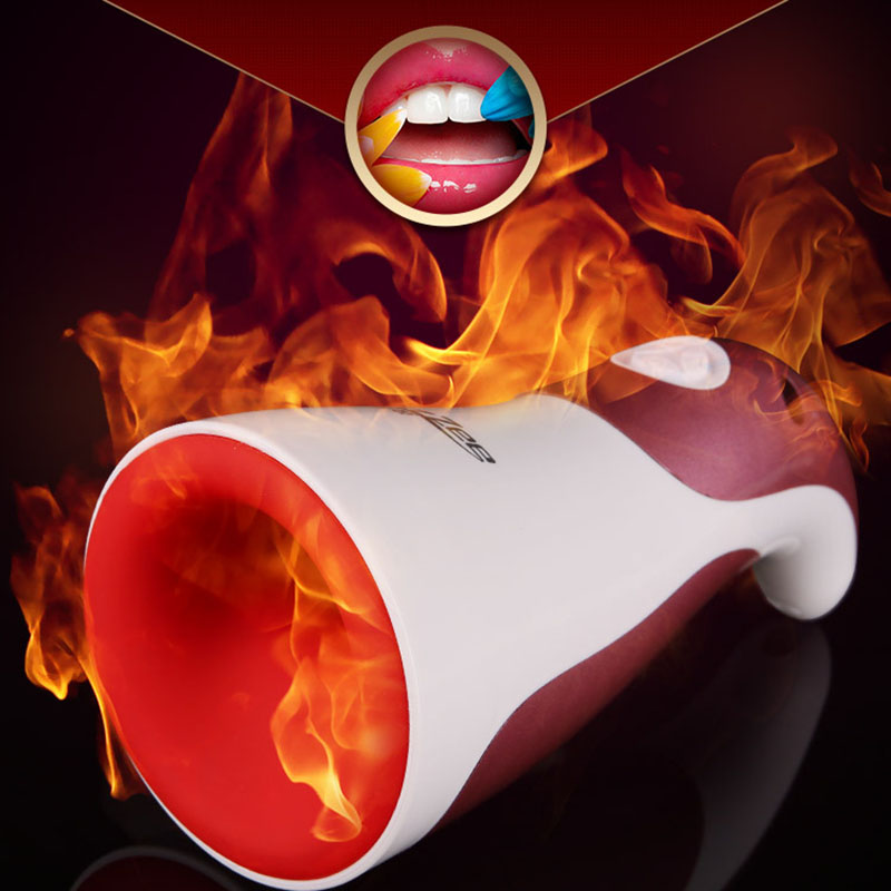 Smart Heating Masturbator Cup For Man Vibrating Passion Cup Male Electric Clip Sucking Oral Sex Machine Adult Product Erotic Toy футболка toy machine leopard brown