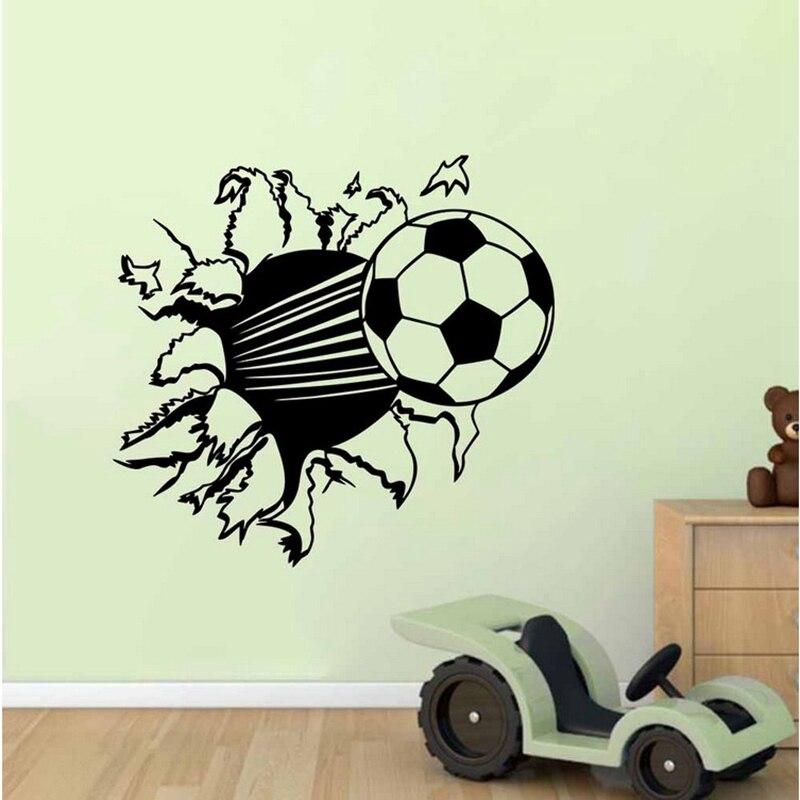 home decoration wall sticker soccer ball football vinyl wall decal stickers for kids sport boy rooms bedroom art wall decor