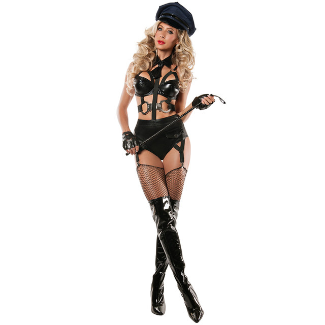 Cops Cosplay Women Police Role Play Hot Sexy Cops Costumes Women Black Faux Leather Sexy Halloween Costumes  sc 1 st  Aliexpress & Online Shop Cops Cosplay Women Police Role Play Hot Sexy Cops ...