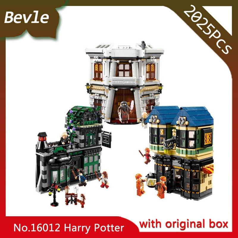 ФОТО Bevle Store LEPIN 16012 2075Pcs Movie series Harry Potter Diagon Alley Building Blocks Bricks Set Toys with Children toys 10217