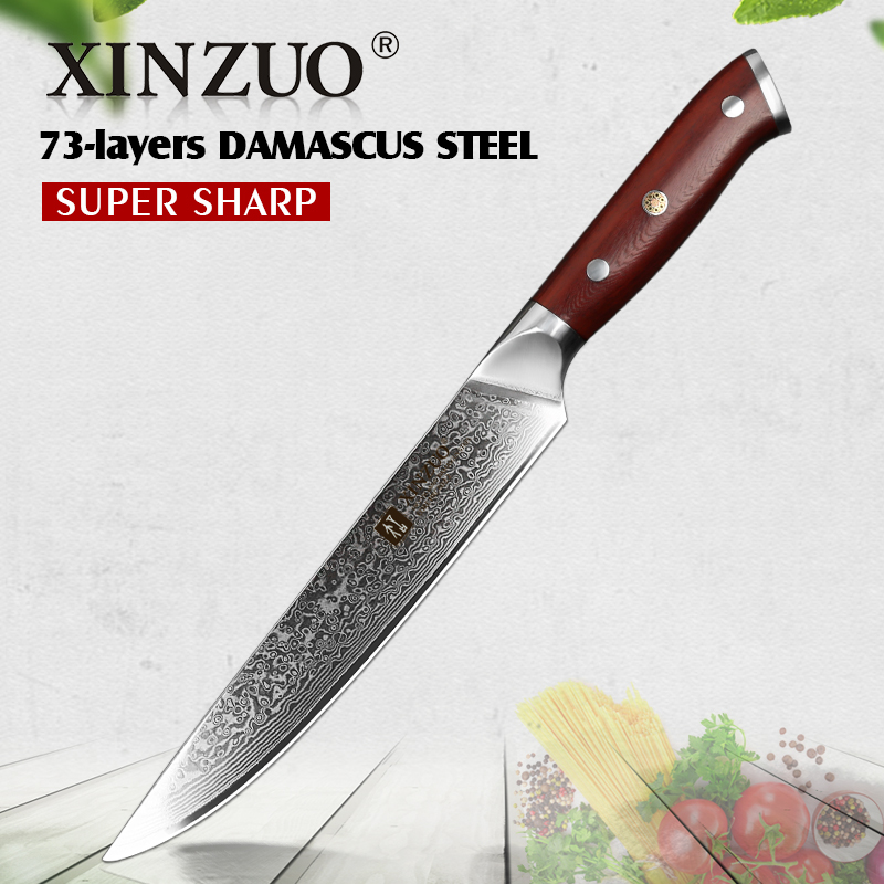 XINZUO 8 Cleaver Knife Japanese Meat Knife Kitchen Cutlery VG10 Damascus New Slicing Master Knives BBQ Tools Rosewood HandleXINZUO 8 Cleaver Knife Japanese Meat Knife Kitchen Cutlery VG10 Damascus New Slicing Master Knives BBQ Tools Rosewood Handle