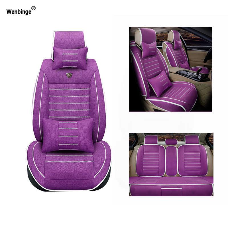 Tampas de assento de carro respirável para dacia sandero duster logan acessórios do carro-estilo do carro almofadas preto/bege/vermelho 3d