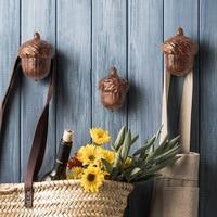 2 pcs/set Creative Pine Cone Resin Wall Hooks Entrance Bathroom Coat Rack Living Room Furniture