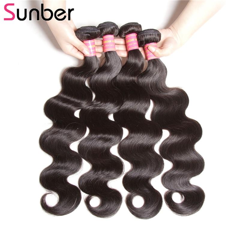 SUNBER HAIR Gelombang Tubuh Brazilian Rambut Menenun Bundel Warna - Rambut manusia (untuk hitam)
