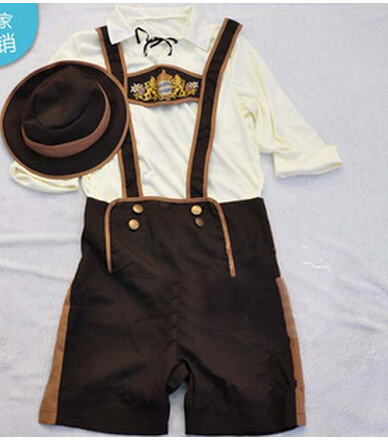 free shipping New Oktoberfest Costume for Men Lederhosen Bavarian Octoberfest Festival Party Clothes Carnival Costumes For Men