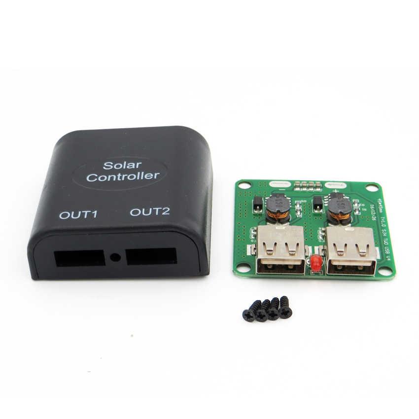5 فولت 2A الألواح الشمسية الجهد جهاز التحكم في الشحن مع LED مؤشر شاحن يو اس بي منظم تيار مستمر لتحويل تيار مستمر 9 فولت/12 فولت/15 فولت/18 فولت
