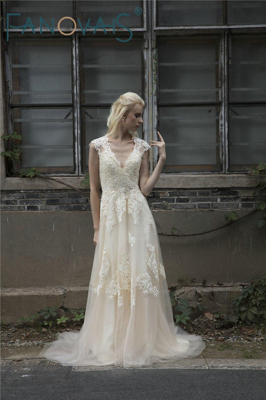 Vintage Lace Boho Φόρεμα Γάμου Φορέματα - Γαμήλια φορέματα - Φωτογραφία 4