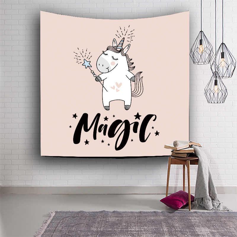 Wise Ideas lienzo único unicornio Bainbow pared Mantas para colgar colcha dormitorio hogar sala de estar decorativo Toallas de playa