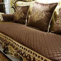 Almofada de sofá antiderrapante de estilo europeu, inverno luxo quatro estações universal sala de estar almofada americana.