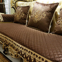 European-style non-slip sofa cushion, winter luxury four seasons universal living room American cushion.