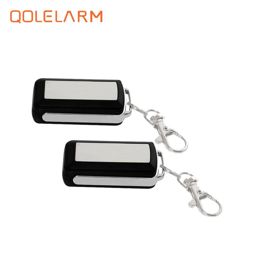 2 pcs wireless 433 MHz portable Metal remote control controller anti-theft for GSM WiFi security alarm system 2 pcs 433 mhz wireless rf smart plug socket cell phone remote control home appliance automation for gsm wifi alarm system