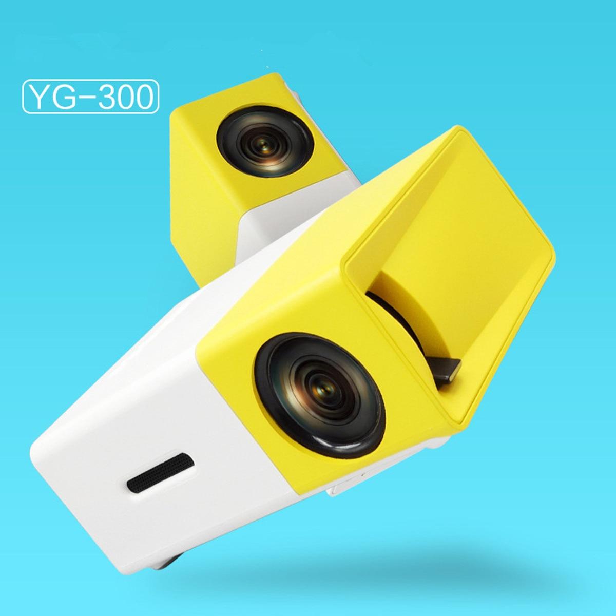 YG300 YG-300 LCD Projecteur Full HD 1080 P Mini Portable Home Cinéma Cinéma LED Projecteur Pour Vidéo Médias lecteur