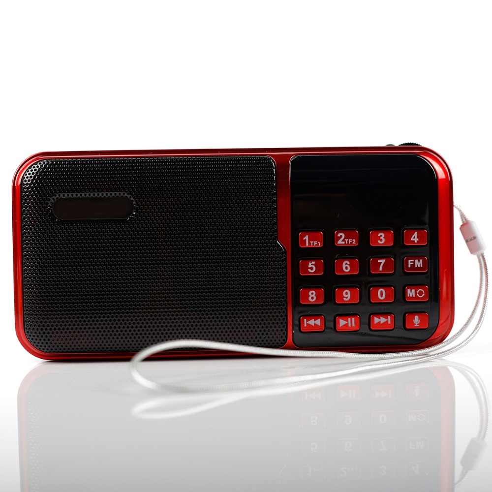 mini Portable speakers outdoor Dancing speaker tf card usb fm radio Music Surround MP3 player  old man recording c-818