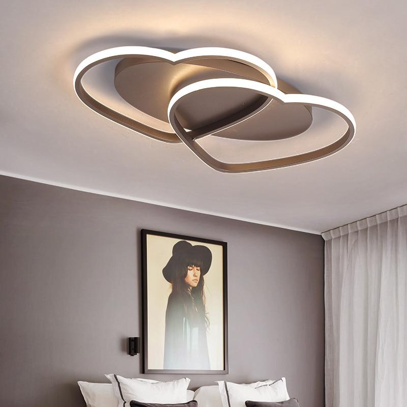 все цены на LICAN Modern Ceiling Lights LED Lamp for Living room Bedroom lamparas de techo Heart shape Avize Lustre 110V 220V Ceiling Lamp