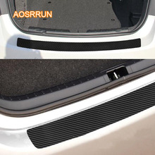 AOSRRUN autoadesivo in fibra di Carbonio posteriore guardia box anti-scratch sticker cover Per Skoda octavia fabia rapid commick koroke Kodiak