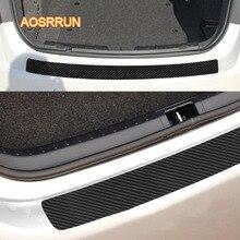 AOSRRUN углеродное волокно наклейка автомобиля Задняя Защита Коробка против царапин наклейка крышка для Skoda octavia fabia rapid commick koroke Kodiak