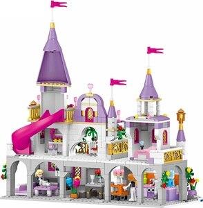 Image 3 - 7 で 1 王子ウィンザー城互換 Legoings フレンドガール DIY モデルビルディングブロックのおもちゃ少女の子供ギフト