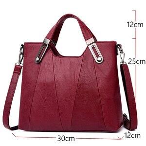 Image 3 - 2020 NEW Women Shoulder Messenger Bag Luxury Leather Handbags Women Bags Designer Famous Brand Female Crossbody Bags Sac A Main
