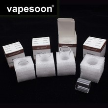 Original VapeSoon 20pcs/lot  Replacement Glass Tube For SMOK TFV8 X-BABY X BABY 2ML 4ML Atomizer Retail Package