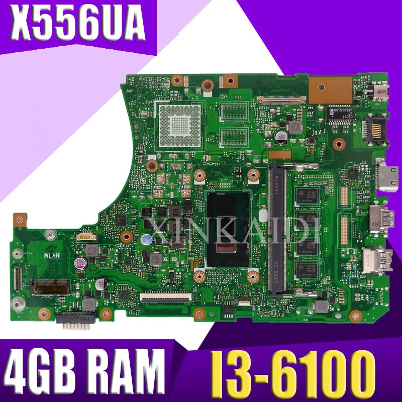 <font><b>X556UA</b></font>/X556UJ I3-6100CPU With 4GB DDR3L memory mainboard For <font><b>ASUS</b></font> <font><b>X556UA</b></font> X556UJ X556U X556UB laptop motherboard Tested Working image