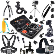Zookkbb for Gopro Hero Sj Camera Accessories Kit Head Chest strap Monopod Large carry bag Suction Cup Mount Floating Grip