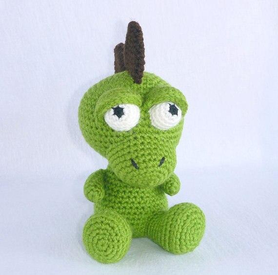 PDF Crochet Pattern Baby Dragon Amigurumi | Etsy | 565x570