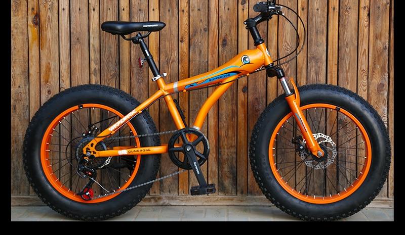HTB1RJXOSbrpK1RjSZTEq6AWAVXa0 KUBEEN mountain bike 21 speed 2.0 inch bicycle Road bike Fat Bike Mechanical Disc Brake Women and children bicycles