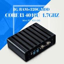 XCY Промышленный ПК Мини-Компьютер I3 4010U Безвентиляторный 8 Г RAM 320 Г HDD 2 * COM 2 * RJ-45, 1 * HDMI, 1 * VGA, 6 * USB Тонкий Клиент Поддержка HD видео