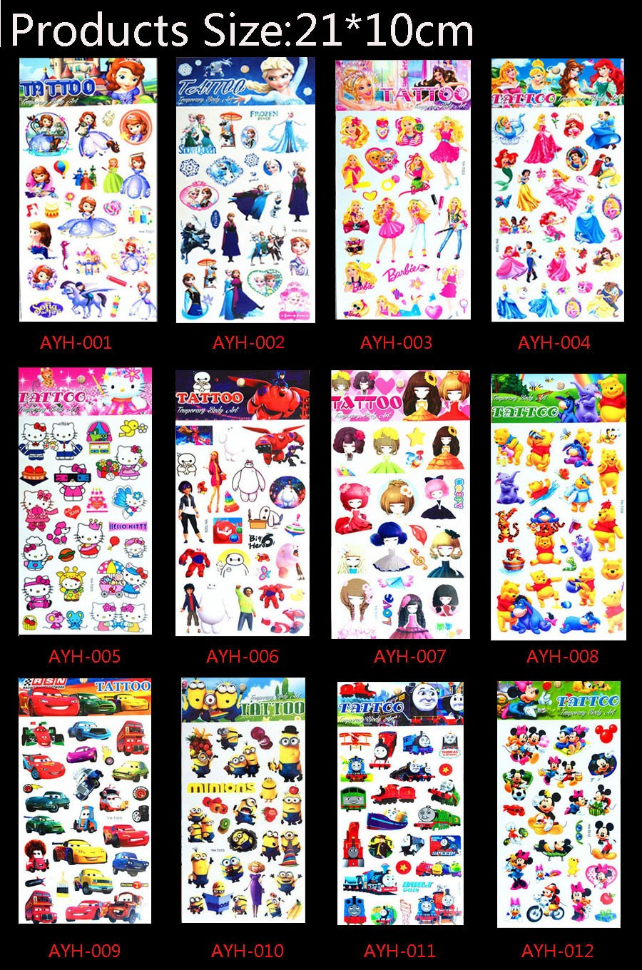 17 1pc Train Thomas And Friends Tattoo Stickers 21*10cm Kids Toy Cartoon Waterproof Anime Temporary Body Art Children Comics 10