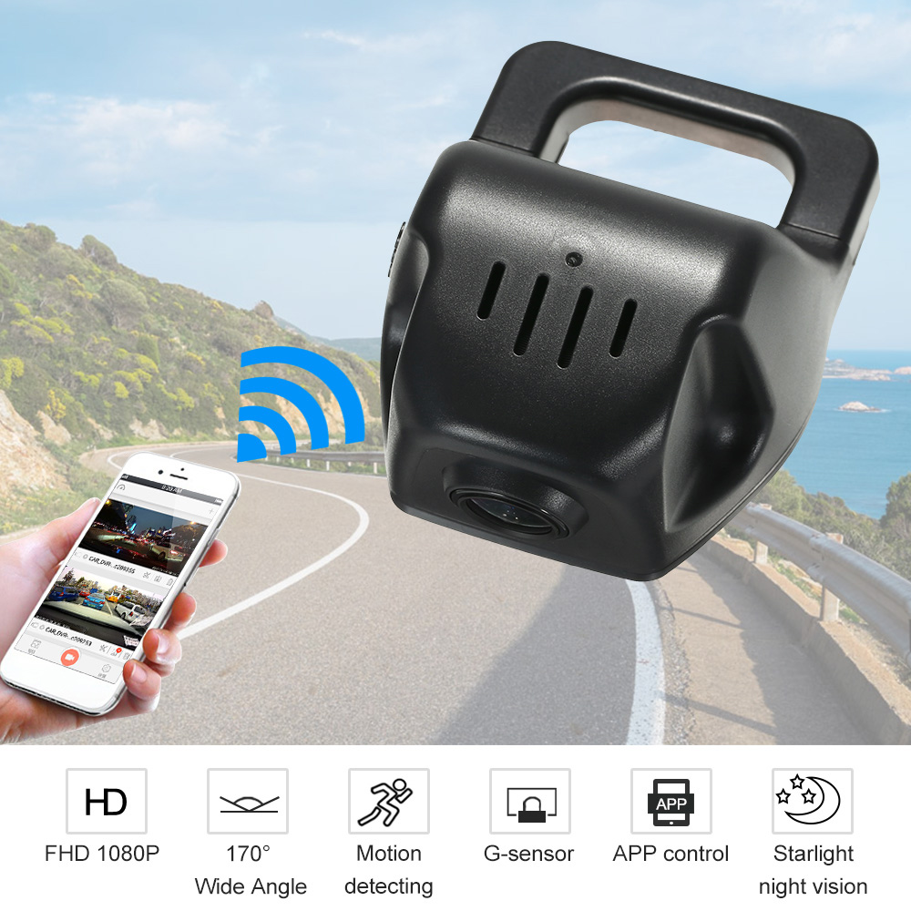 Car DVR Camera Full HD 1080P Video Recorder Novatek 96658 IMX 323 WiFi APP Control for iOS Android Devices Car Accessories car dvr for brilliance v5 car video recorder hidden installation novatek 96658 car camera recorder car black box free shipping