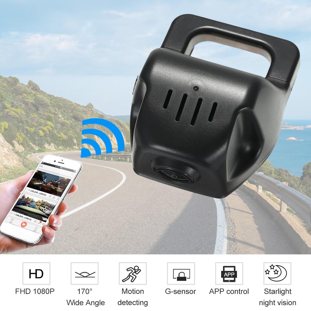 Car DVR Camera Full HD 1080P Video Recorder Novatek 96658 IMX 323 WiFi APP Control for iOS Android Devices Car Accessories [m2] general car dvr wifi app mini hidden full hd 1080p novatek 96655 sony322 2 1inch g sensor car video recorder