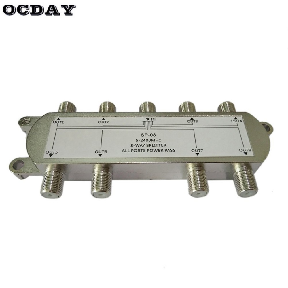 SP 08 8 Way Signal Satellite Splitter TV Antenna RF Coaxial Cable Splitter Wholesale-in TV Antenna from Consumer Electronics