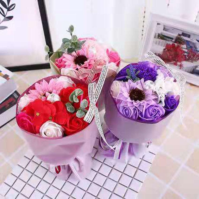 Nouveau bouquet simulé savon roses savon festival activités mariage saint valentin cadeaux créatifs décorations pour la maison LINTINGHAN
