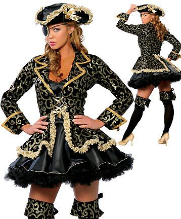 Ensen grade Karibik Caribbean pirate queen costume Halloween cosplay stage performance clothing Mono-Eye  modelling costume