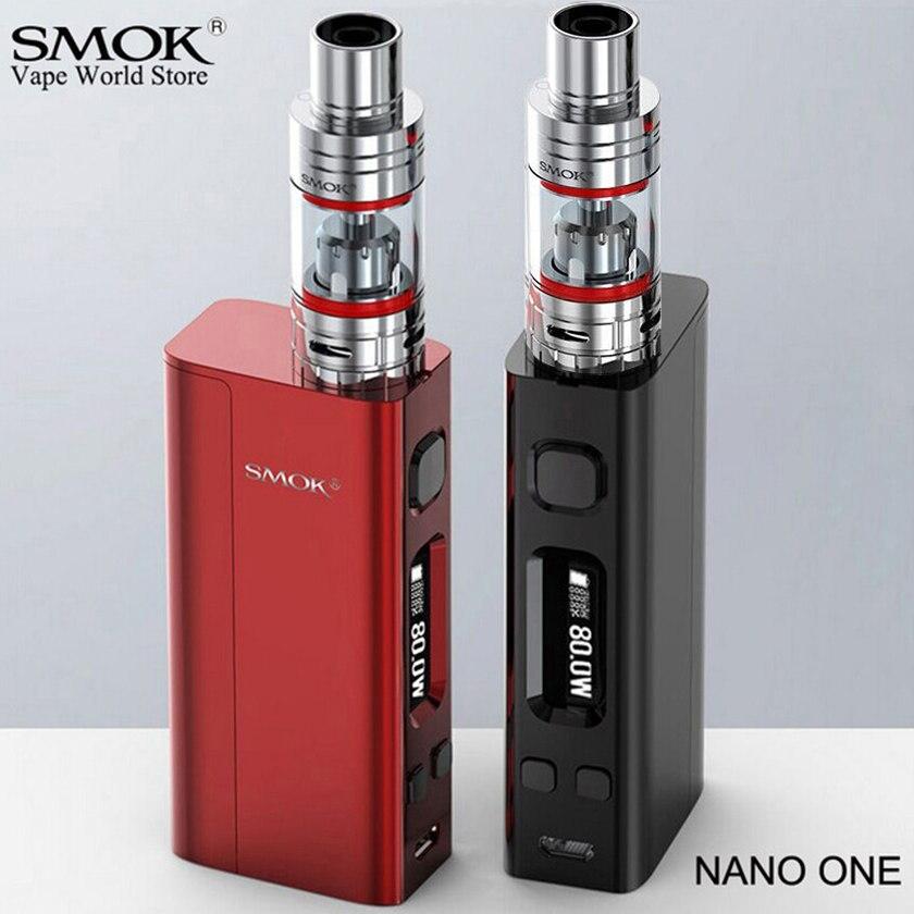 Smok nano um cigarro eletrônico vape r-vapor mini 80 w caixa mod vaporizador e hookah mini alienígena al85 kit vaporizador s009