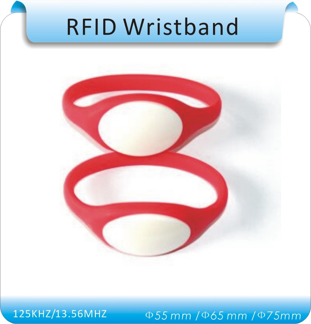 100pcs TK4100 125Khz RFID Wristband Bracelet Silicone Waterproof Proximity Smart Card Watch Type for Access Control