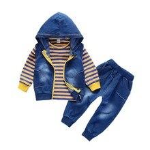 купить 2018 Autumn Boy Clothes Suits Cartoon Baby Kids Outerwear Hoodie Vest T-shirt Pants 3Pcs Sport Clothing Toddler Tracksuit недорого