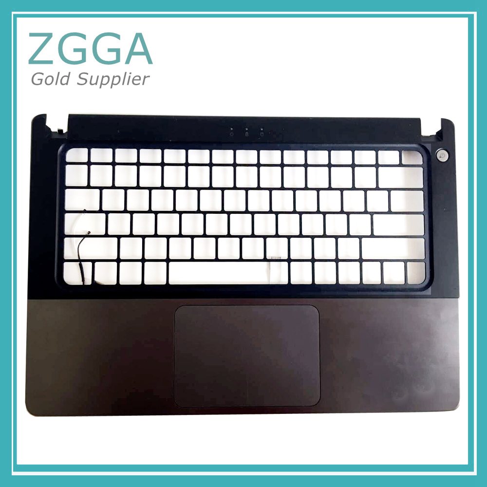 цена на Original Laptop Keyboard Bezel Shell For Dell Vostro 5460 5470 5480 Upper Case Palmrest Cover W/FPR Touchpad PN:VF80X YDCHK
