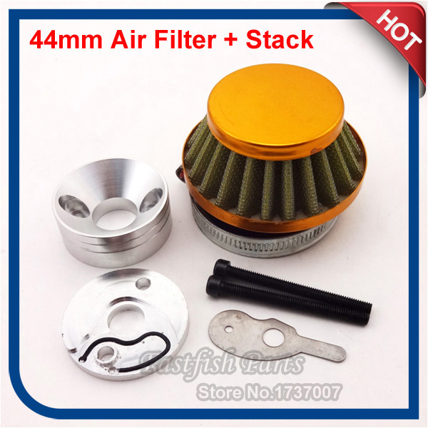 US $12 74 6% OFF|44mm Air Filter + Adapter Velocity Stack Aluminum For  Xcooter Cobra Motovox Gas Scooter Motorcycle-in Air Filters & Systems from