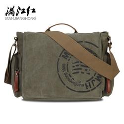Manjianghong lazer lona dos homens maleta sacos de qualidade garantido saco de ombro do homem moda negócios funcional mensageiro saco